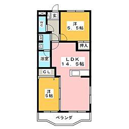 サンメイプル徳倉[3階]の間取り