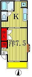 コーポ五香[2階]の間取り