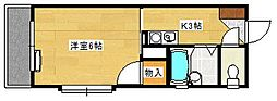 草津東ビル[103号室]の間取り