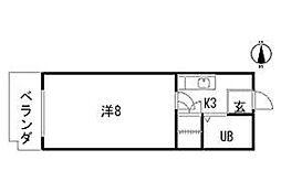 藤崎ビル3[3階]の間取り