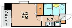 ピュアドーム箱崎アネックス[4階]の間取り