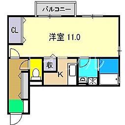 BLUE南金田[1階]の間取り