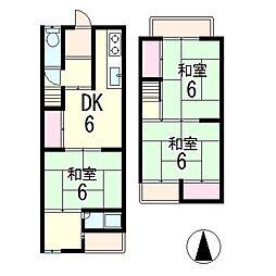 [一戸建] 滋賀県草津市平井5丁目 の賃貸【/】の間取り