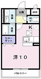 タウンルームけまり[201号室号室]の間取り