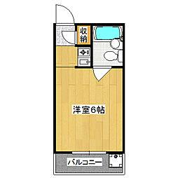 マンション栄光[2階]の間取り