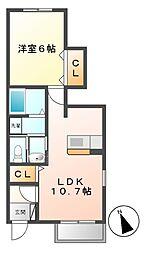 リバーサイドシティ A棟[1階]の間取り