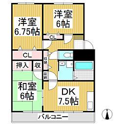 ガーデンテラス大日方 A棟[3階]の間取り