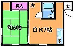 茨木ビル[3階]の間取り