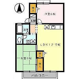 ハーモニック・フィール2B棟[203 号室号室]の間取り