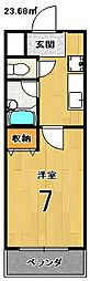 エクシード円町[4階]の間取り