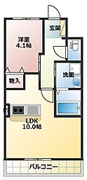 JR山陽本線 土山駅 4.5kmの賃貸アパート 1階1LDKの間取り