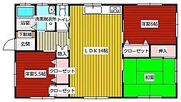 [一戸建] 福岡県福岡市東区香住ケ丘4丁目 の賃貸【/】の間取り