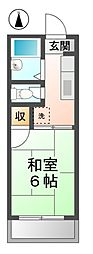 愛知県一宮市丹陽町森本の賃貸アパートの間取り