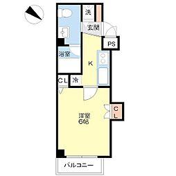 メルベーユ夕凪[6階]の間取り