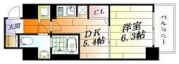 モンリベルテ箕面[7階]の間取り