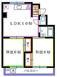 東京都西東京市谷戸町3丁目の賃貸マンションの間取り