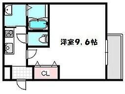 大阪府守口市大日東町の賃貸アパートの間取り