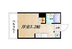 神奈川県横須賀市汐入町3丁目の賃貸マンションの間取り