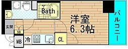 クレビオス南堀江[9階]の間取り