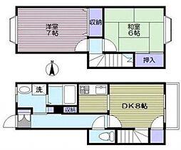 [テラスハウス] 東京都大田区久が原3丁目 の賃貸【/】の間取り