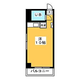 東峰マンション福岡県庁前[7階]の間取り