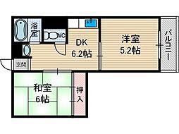 イーストサイド茨木[2階]の間取り