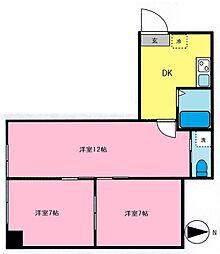 西荻セントラルマンション[105号室]の間取り