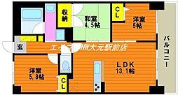 アルファステイツ岡山駅西[3階]の間取り