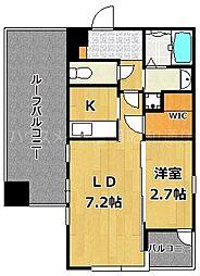 サニークレスト西新[5階]の間取り