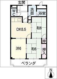 マリッチ赤城[3階]の間取り