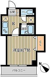 東京都大田区鵜の木3丁目の賃貸マンションの間取り