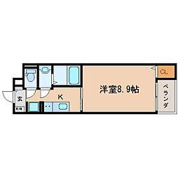 JR東海道本線 静岡駅 徒歩13分の賃貸マンション 2階1Kの間取り