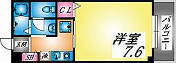 兵庫県神戸市灘区浜田町3丁目の賃貸マンションの間取り