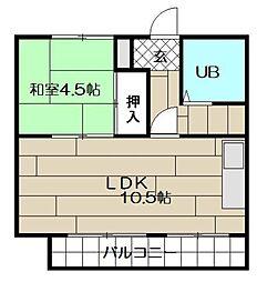 泰平小倉駅前ビル[303号室]の間取り
