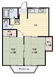 勝山ビル[4階]の間取り