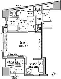 東京都港区虎ノ門3丁目の賃貸マンションの間取り
