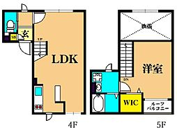 LAPIS大井町II 4階1LDKの間取り