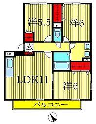 コンフォート新柏C棟[3階]の間取り