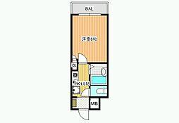 ハートフル藤井寺[6階]の間取り