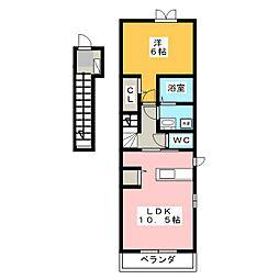 フィオーレK.S[2階]の間取り