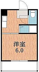 カルム四天王寺[3階]の間取り
