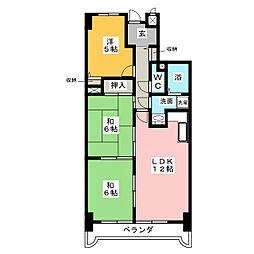 アメニティ雁道[9階]の間取り