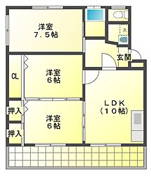 Nハイツ24[1階]の間取り