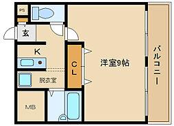 サンコークレアール[3階]の間取り