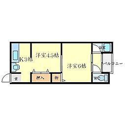 西川ハウス[1階]の間取り