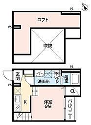 福岡県福岡市東区香椎4丁目の賃貸アパートの間取り