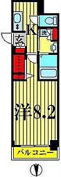 Azul菊川[6階]の間取り