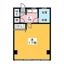西春オカマンション[1階]の間取り