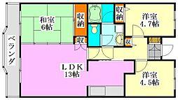 ブランシェ塚田[305号室]の間取り