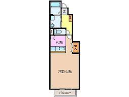 リヴァーヒルズK1[1階]の間取り